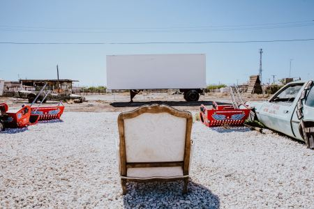 Abandoned movie theater.