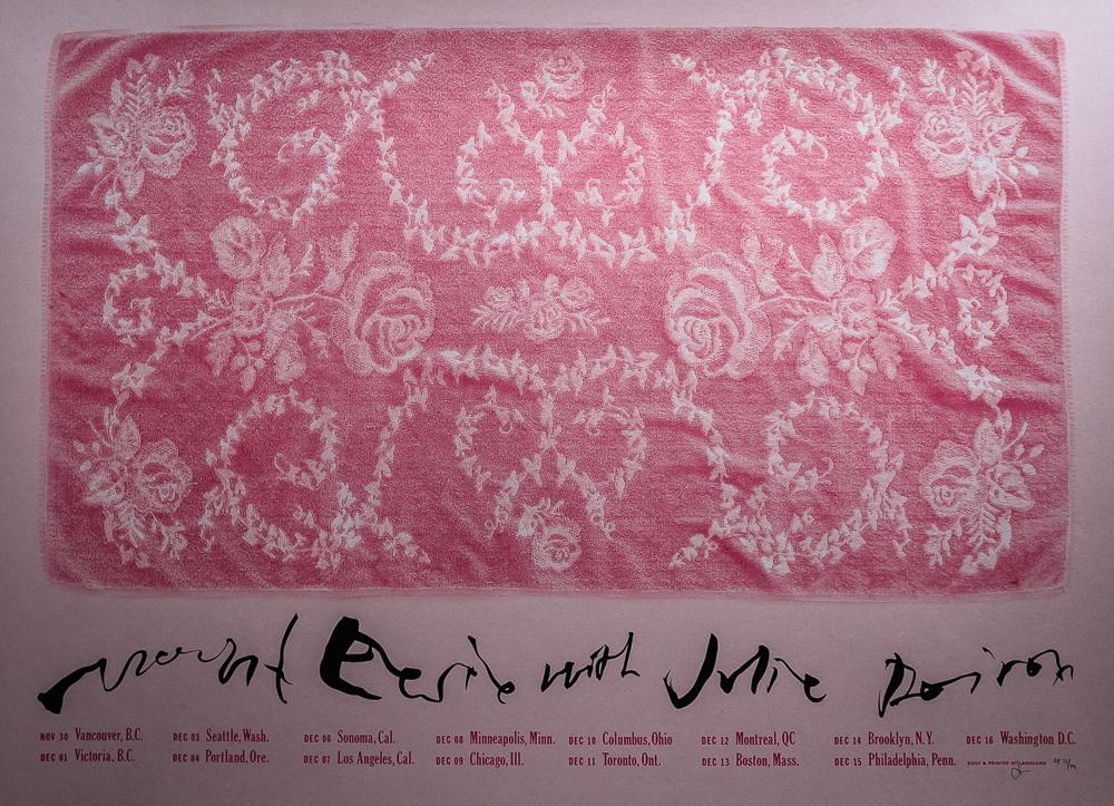 Mount Eerie/Julie Doiron tour poster.
