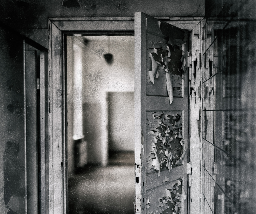 Old peeling door