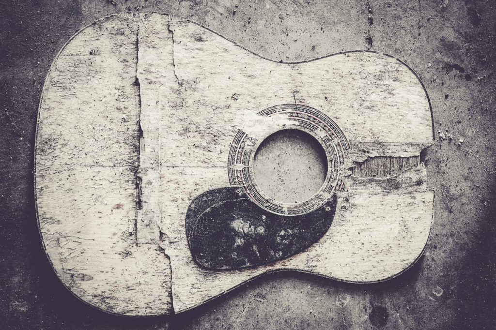 Old broken guitar