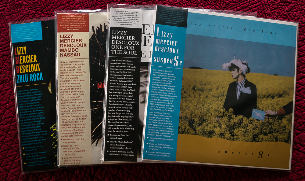 4 LPs by the late recording artist Lizzy Mercier Descloux