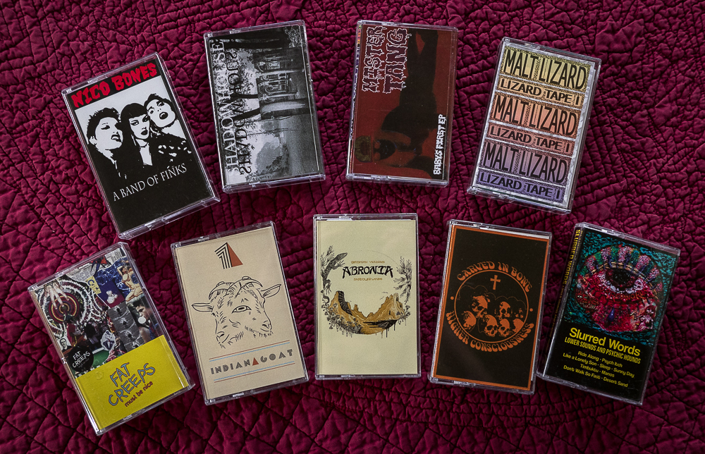 9 cassette tapes from Resurrection Records