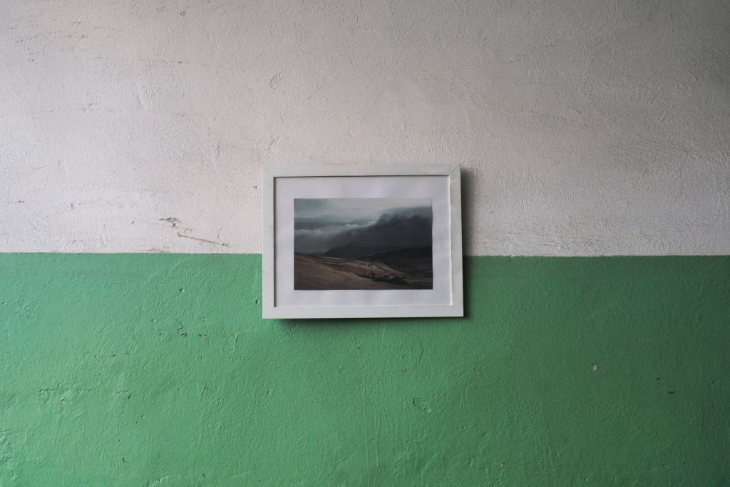 Wall with solitary photo