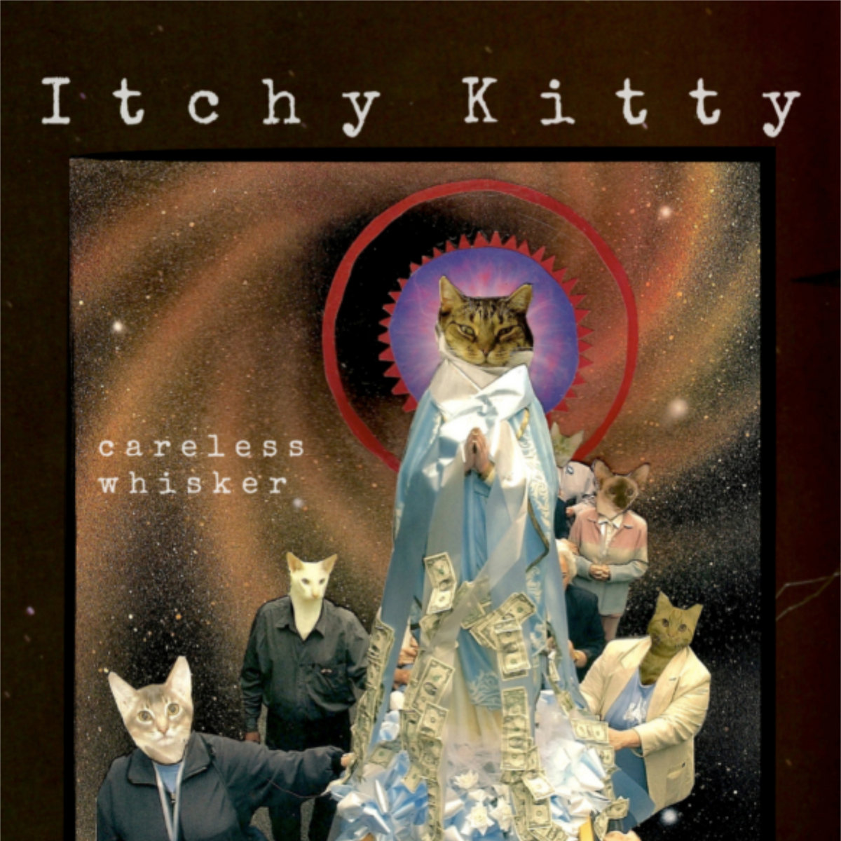 "Itchy Kitty LP art for their record ""Careless Whisker"""