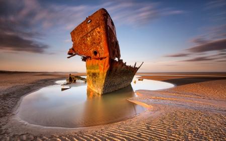 Shipwreck in Ireland