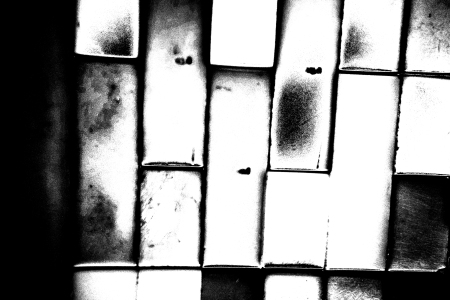 Black and white photo of windows.