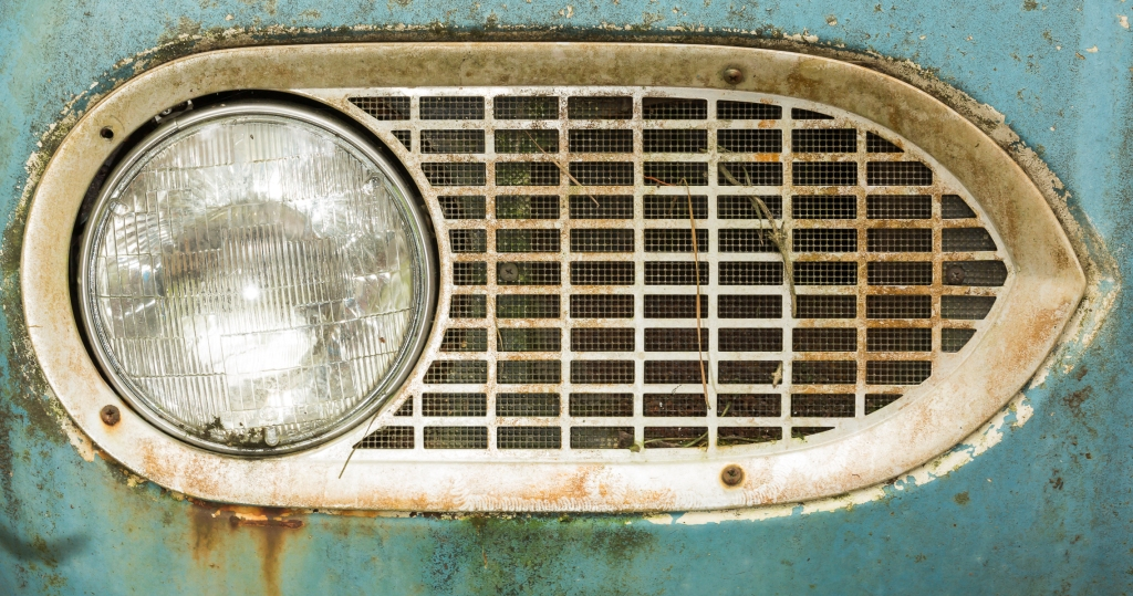 Old headlight of a car