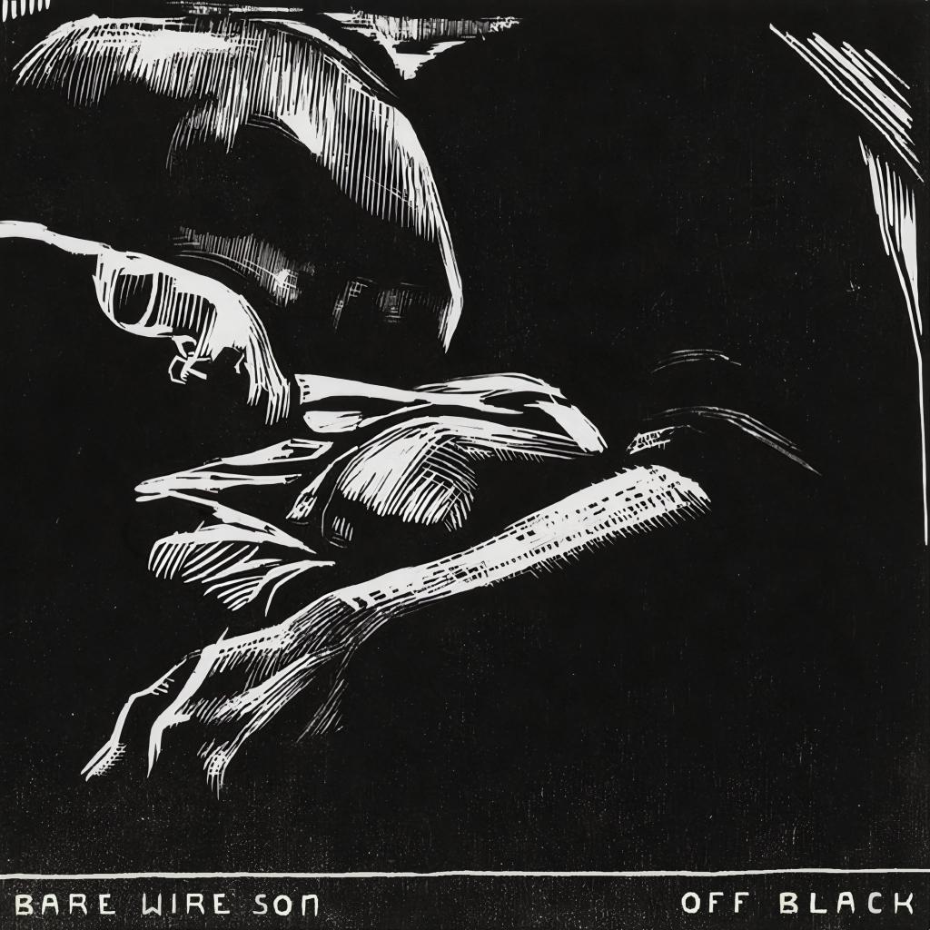 "Album art for ""Off Black,"" a record by Bare Wire Son."
